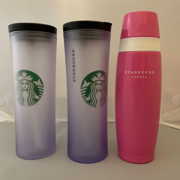 Starbucks Lot of 3- 16 oz Thermos/20 oz cold brew